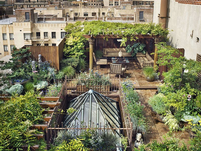 Roof Garden, Penthouse in Chelsea, New York City