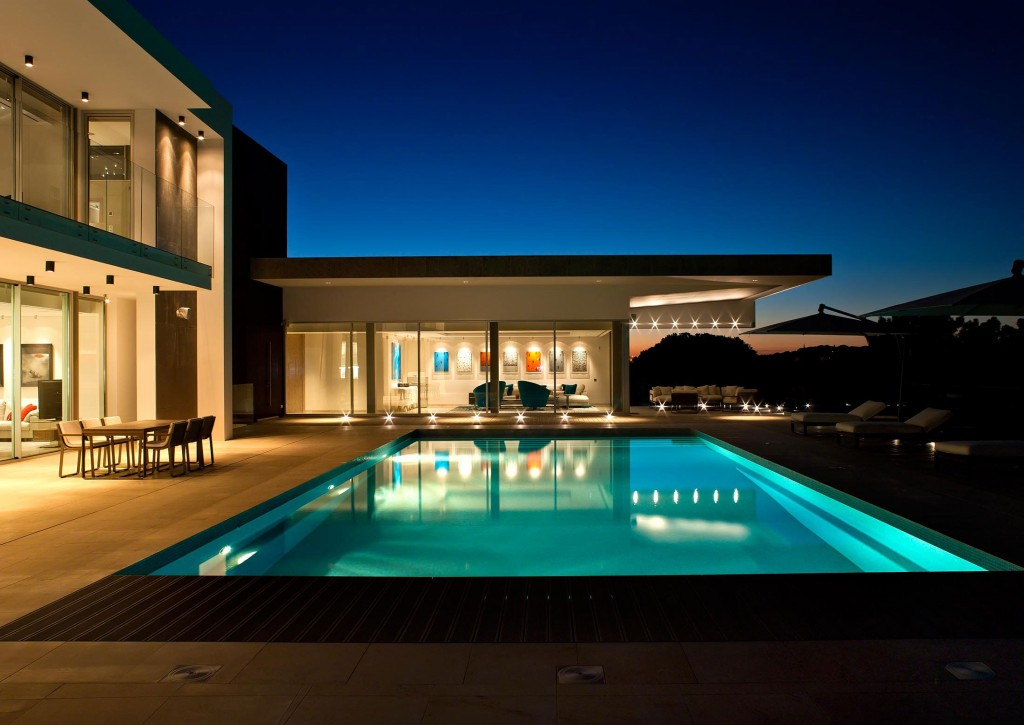 Pool Lighting, Family House in Portugal