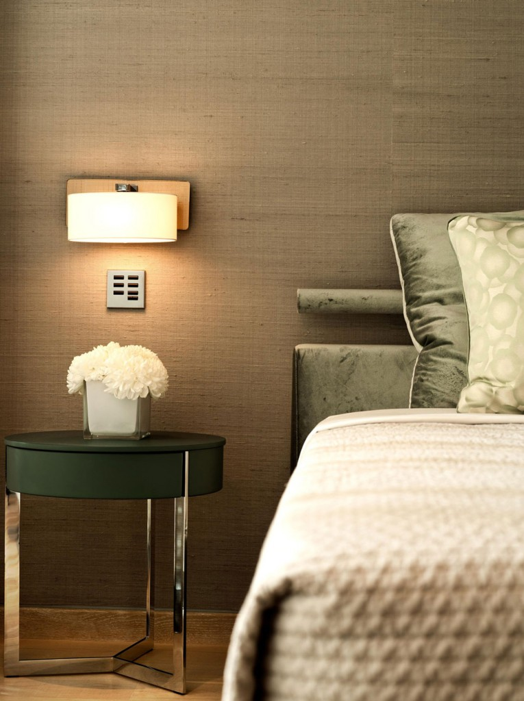Side Table, Lighting, Bedroom, Family House in Portugal