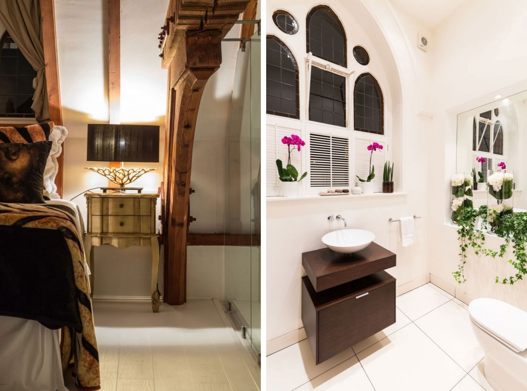 Bedroom, Bathroom, Sink, Church Conversion in London, England