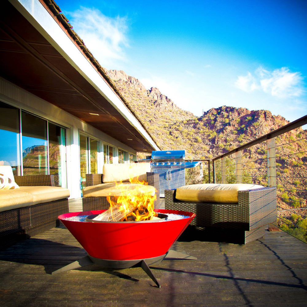Outdoor Fireplace, Astrofire by Modfire