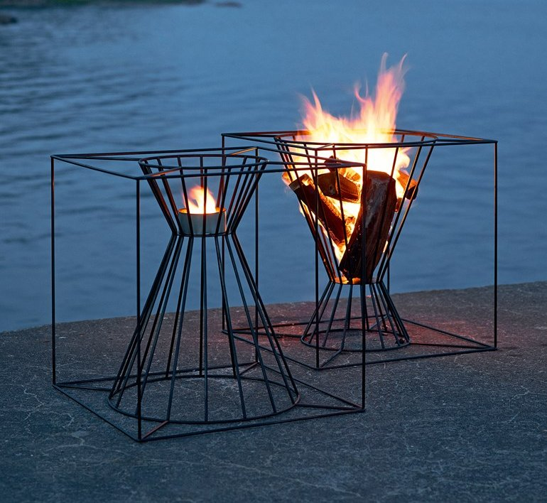Boo Fire Basket by Martin Kallin