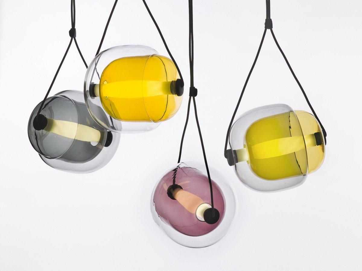 Exquisite Capsula Pendant Light by Lucie Koldova