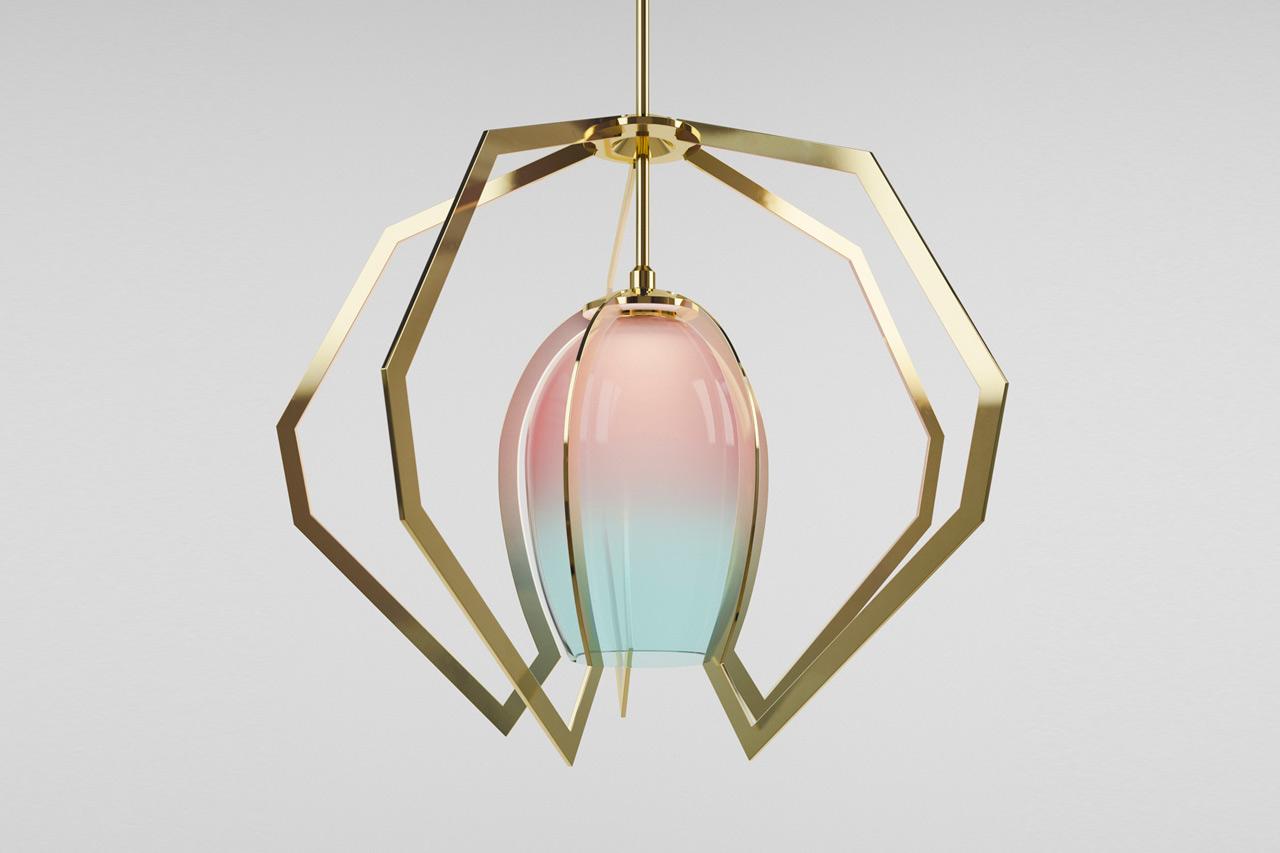 Vise Pendant Light by Bec Brittain