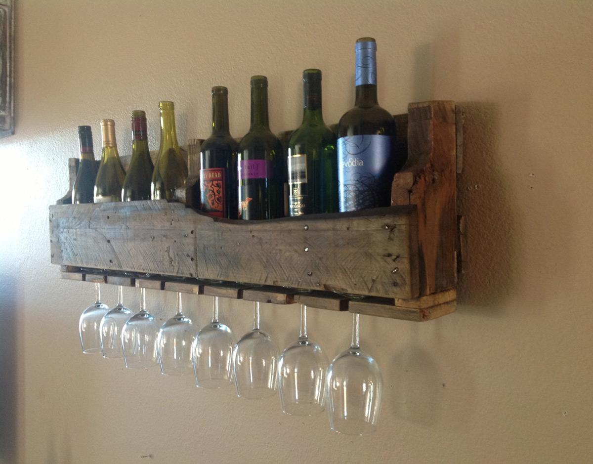 Reclaimed Wood Wine Racks and Shelves