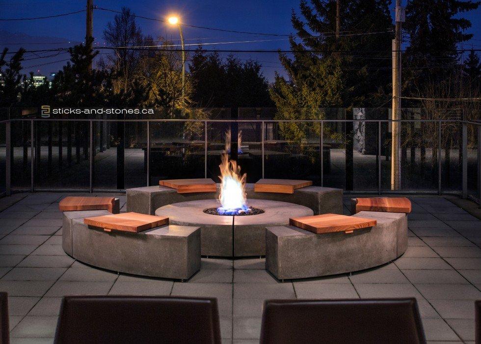 Elegant Firepit by Sticks+Stones Furniture
