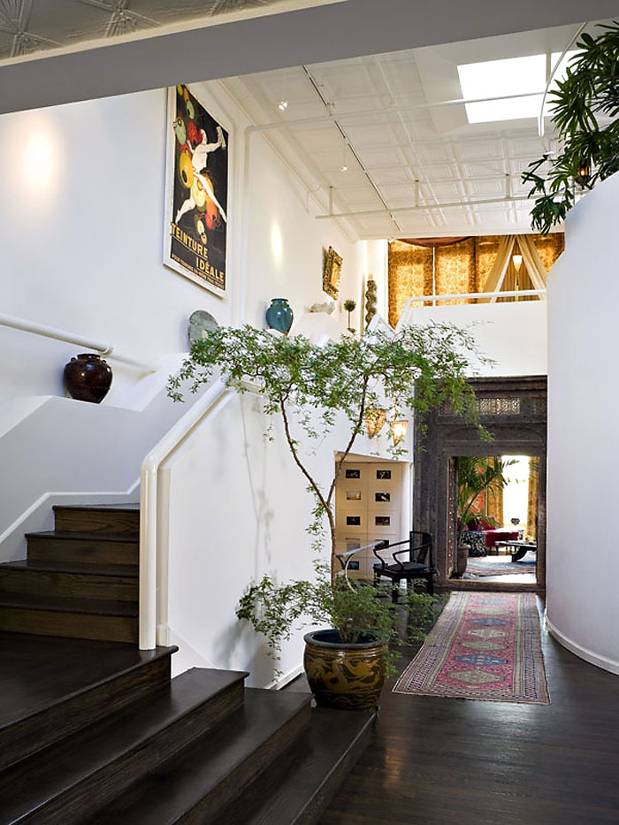 Hall, Stairs, Penthouse in Chelsea, New York City