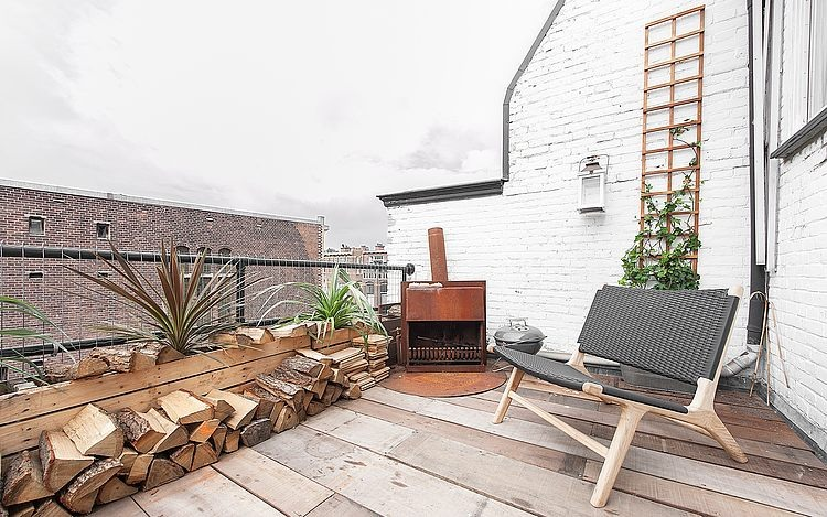 Roof Terrace, Outdoor Fireplace