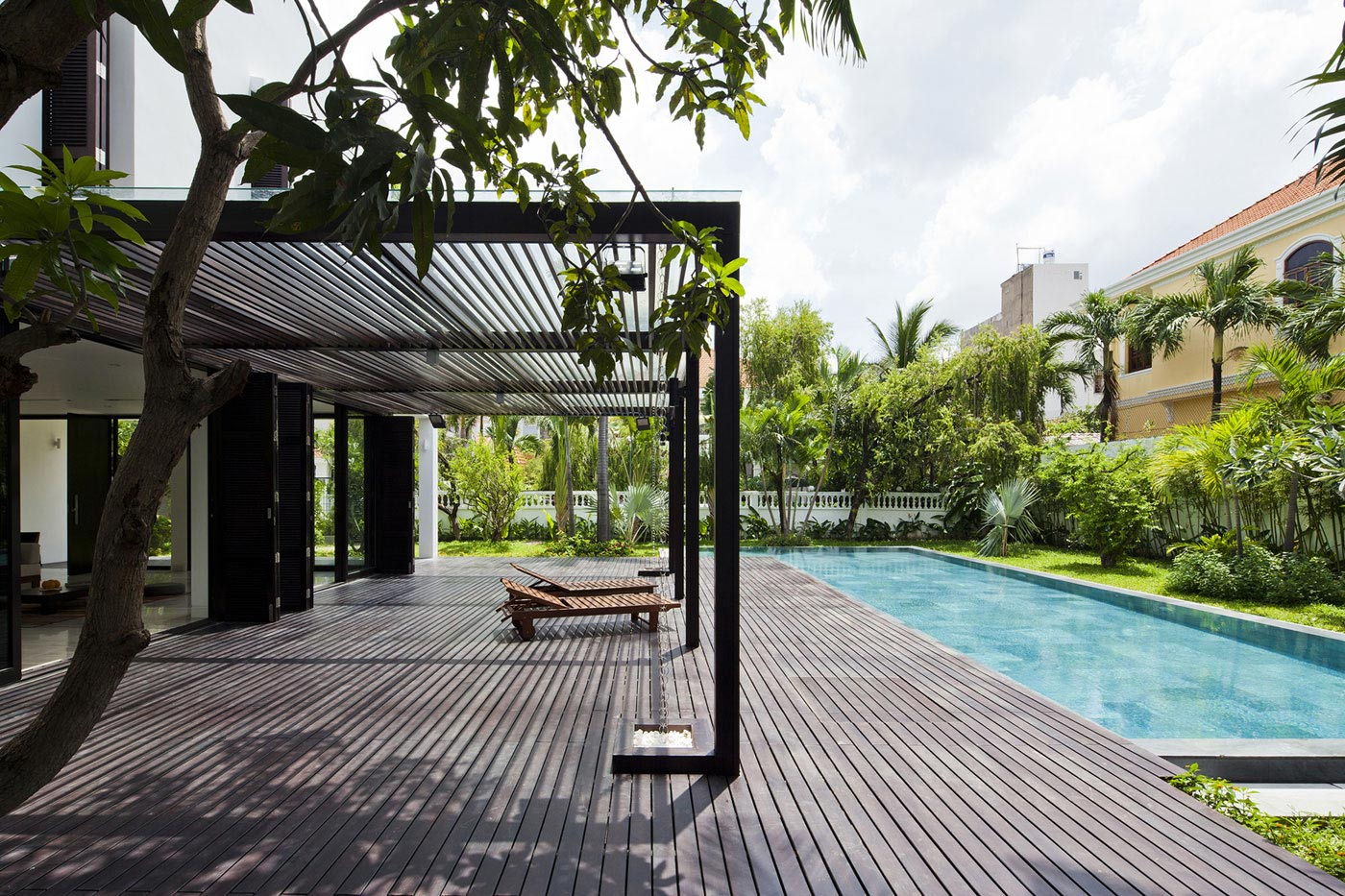 Veranda, Wood Terrace, Pool